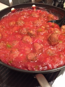 Lamb meatballs in sauce
